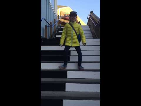 Musical Stairs in San Francisco on the pier - Spring Break 2015