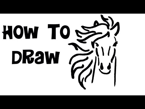 How To Draw A Horses Head For Kids Children Easy Drawing Tutorial