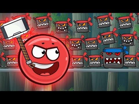 Red Ball 4 Animation Red Ball Hero Vs Ninja Boss Stage 2