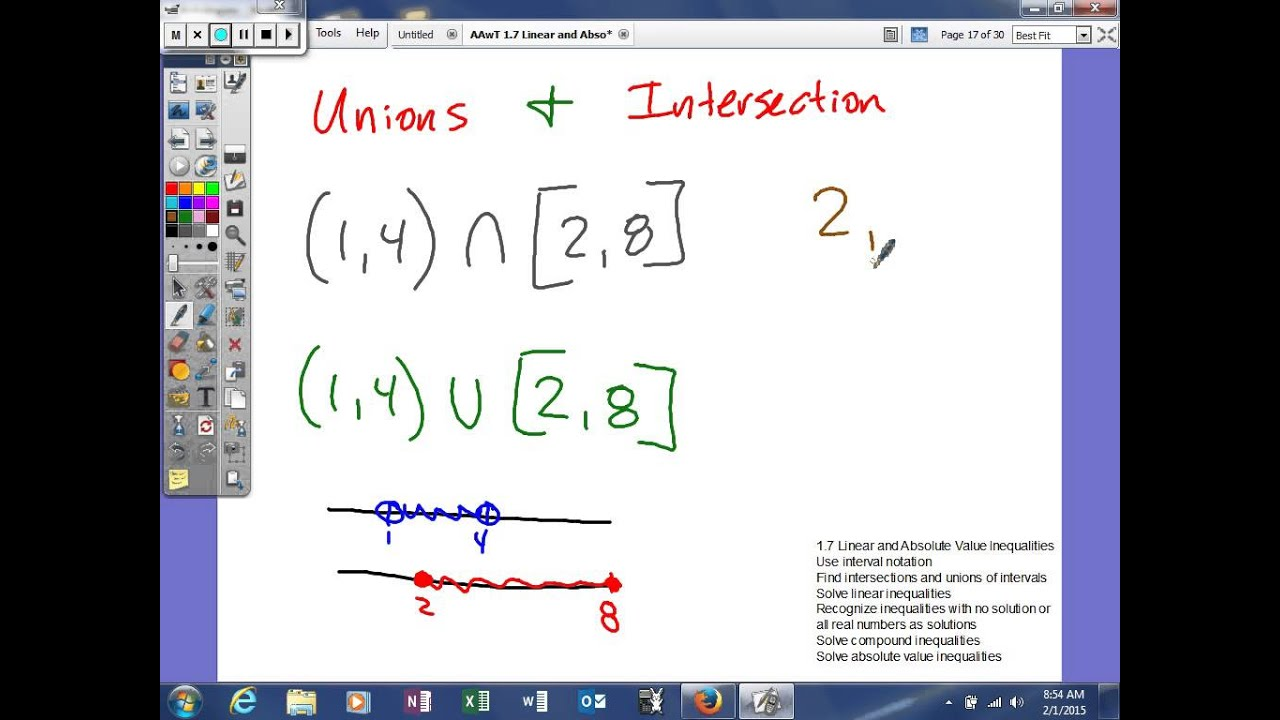 1 7 Linear And Absolute Value Inequalities