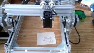 Gravadora Laser 1600mW área útil de 17x22cm - Laser Engraver - China. thumbnail