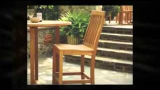 Monterey Teak Bar Chairs