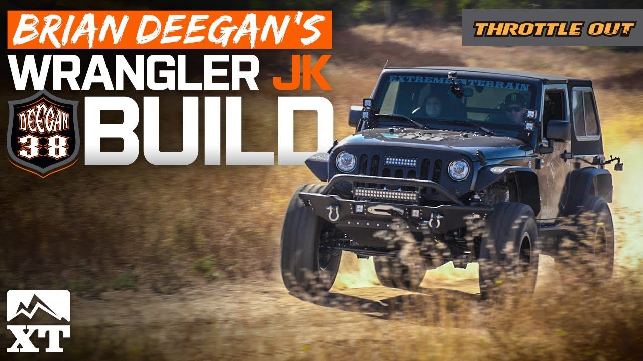 Building Brian Deegan S Bad 2017 Jeep Wrangler Rubicon Deegan38 Armor 4 Lift Kit 37 Tires