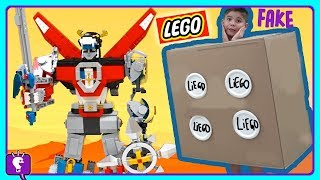 VOLTRON vs LIE-GO Battle Adventure! LEGO Toy Review and Play by HobbyKidsTV