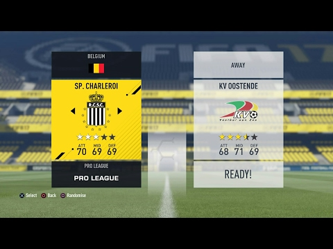 FIFA 17 Jupiler Pro League: Play Off 1: Sporting Charleroi - KV Oostende