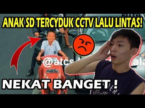 ANAK SD TERCIDUK CCTV Lampu Merah!! Ngakak Atau Emosi ?