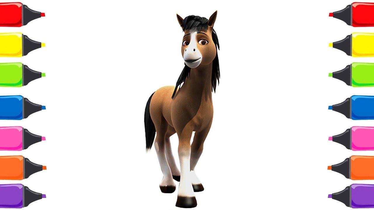 Doru Atı Boyama Renkleri öğreniyorum Nasıl çizilir Boyama Sayfaları