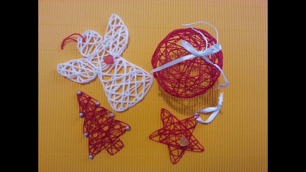 Tutorial palline di natale stupende con filo e colla - Decorazioni natalizie fatte a mano per bambini ...