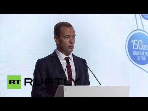 Russia: Medvedev attends Volkswagen factory inauguration