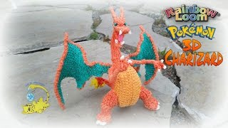 Rainbow Loom 3D Charizard Pokemon (Part 1/15) (リザードン , Dracaufeu, Glurak, покемон)