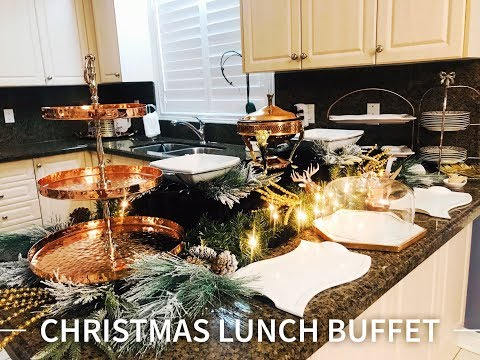 Christmas Lunch Buffet | Christmas Luncheon | Buffet Set Up