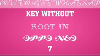 Extract whatsapp key without root 100 working