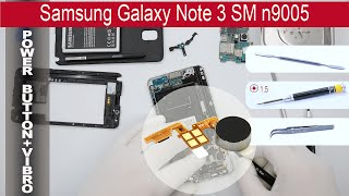 How to replace power button & vibro Samsung Galaxy Note 3 N9000 / N9005(How to replace power button Samsung Galaxy Note 3 N9000 / N9005 by himself. Removal vibro (vibrator) Samsung Galaxy Note 3 N9000 / N9005 at home with ..., 2015-05-11T16:27:23.000Z)