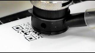 1624R CNC Router / Engraver- Engraving a QR code on plastic