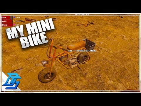MY MINIBIKE PROJECT IS COMPLETE! - 7 Days To Die - Part 11 - Alpha 18