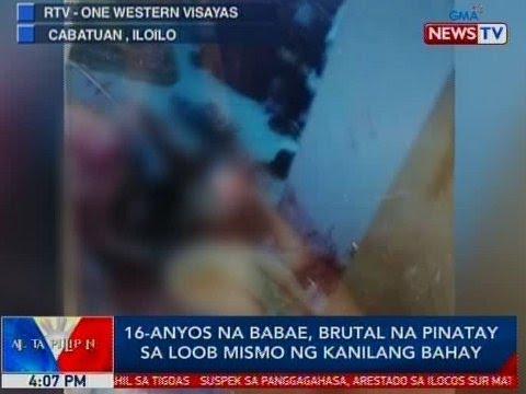 BP: 16-anyos na babae, brutal na pinatay sa loob mismo ng kanilang bahay sa Iloilo