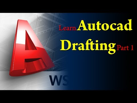 Autocad Tutorial:Basic 2D drafting in Autocad in easy steps