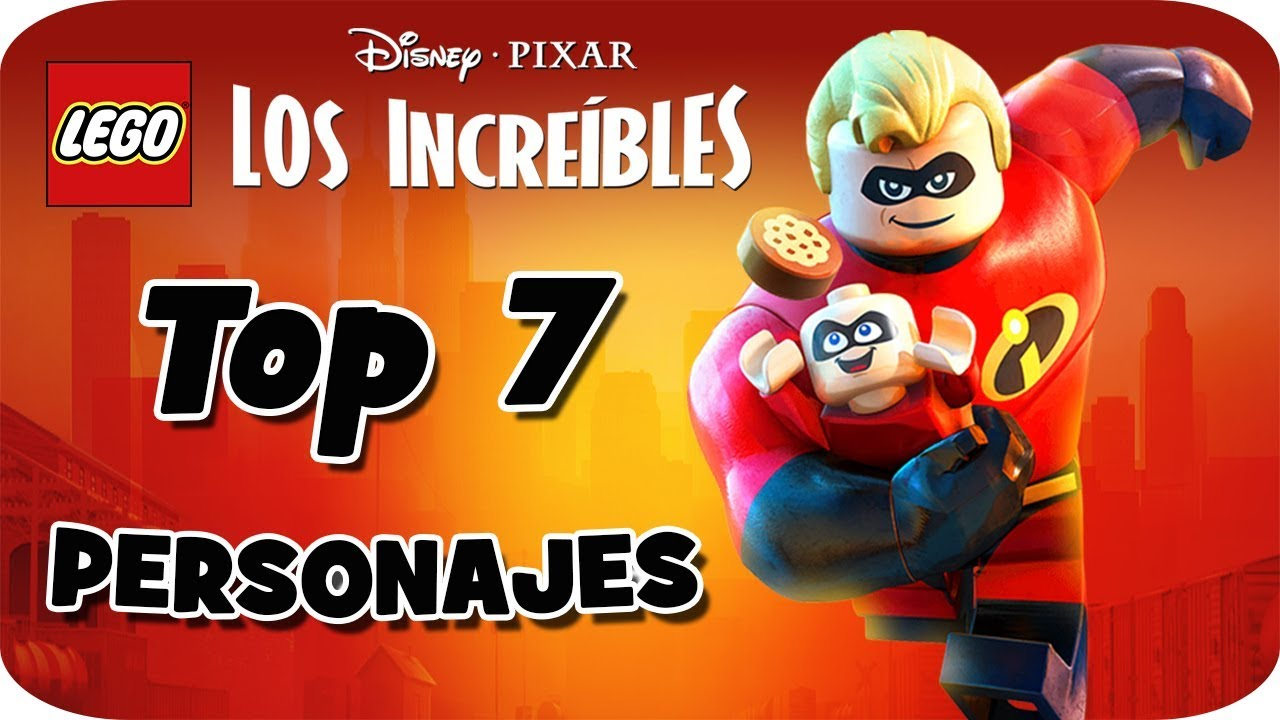 298c08a0ad3 TOP: 7 PERSONAJES - LEGO Los Increíbles (The Incredibles) - YouTube