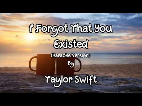 i-forgot-that-you-existed---taylor-swift