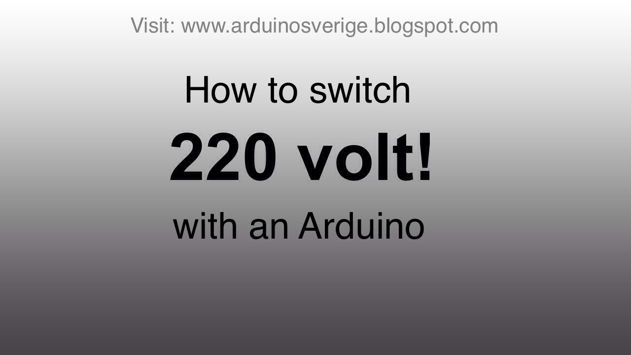 A safe and simple way to switch 220v AC with arduino