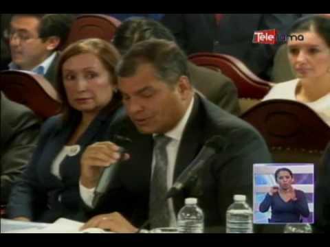 Correa sustenta pedido de consulta popular