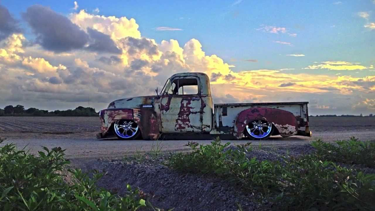 Air Ride Patina Truck, Bagged, \