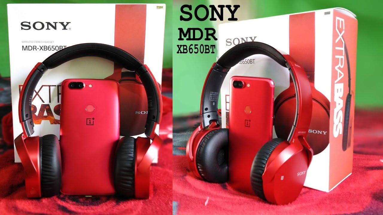 0000aaf198c Sony Extra Bass MDR-XB650BT Wireless Headphones (Red) 🔥Unboxing ...