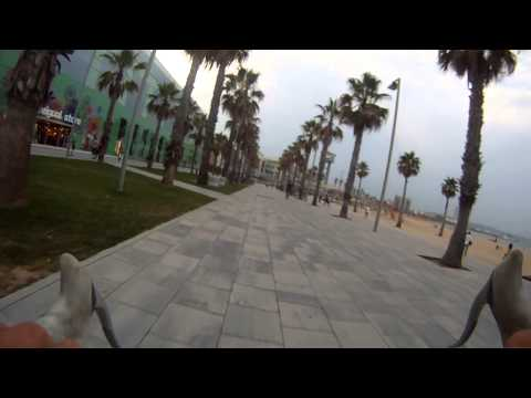 Barcelona Bike Tour - GoPro on handlebar