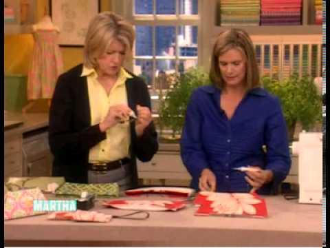 UPSTYLE Fabric Clutch Demo with Martha Stewart - YouTube