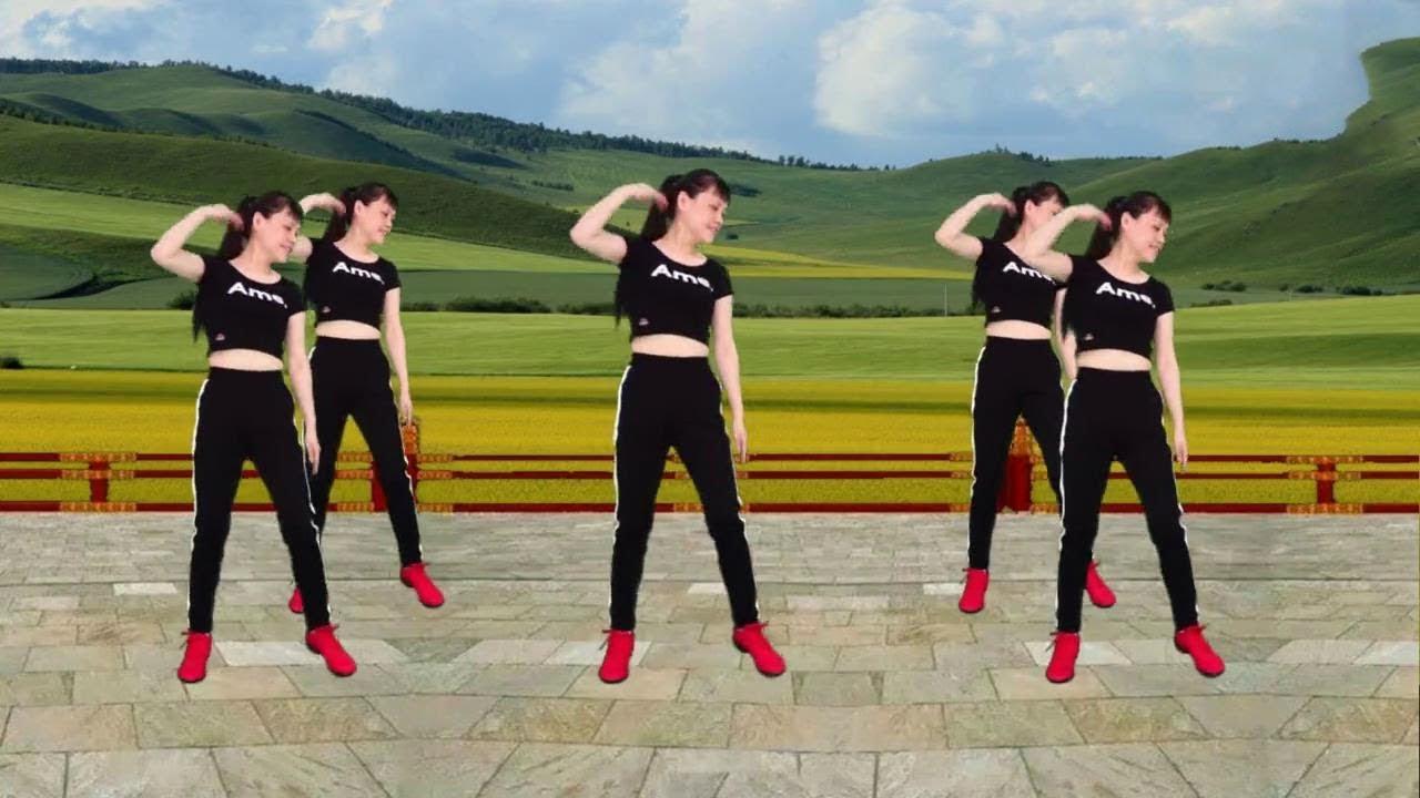 熱身運動減肥操《愛情的力量》簡單基礎步伐 適合大眾健身【華美舞動廣場舞】 - YouTube