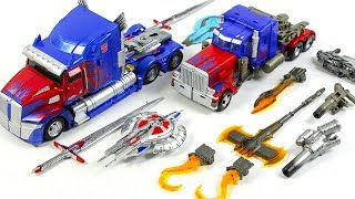 Transformers Movie Voyager Class Optimus Prime + Dr Wu Weapon set Vehicle Car Robot Toys