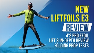 NEW LIFTFOILS E3 REVIEW   Efoil In-depth Review   Electric Hydrofoil with a folding prop