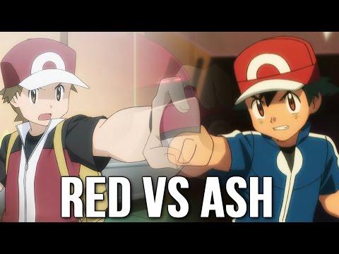 ☆Red VS Ash/Satoshi [Mega Charizard X VS Pikachu/Greninja]☆