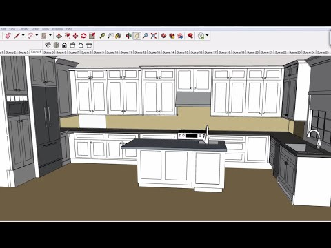 SketchUp Kitchen Cabinet Design by AL. - YouTube