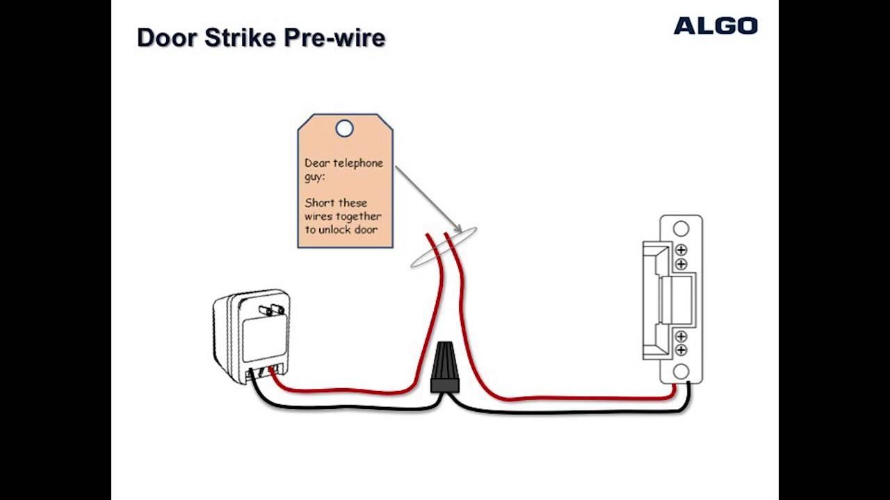 how to wire a door strike to an algo 3226 3228 and 8028 doorphone [ 1280 x 720 Pixel ]