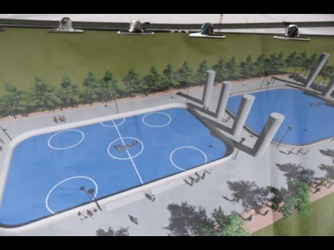 龍井區龍田橋下方空地 直排輪曲棍球場、溜冰場5月完工