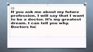 My future profession doctor топик моя будущая профессия врач на английском устная тема