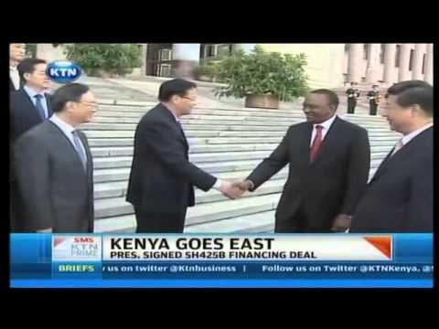 President Uhuru Kenyatta sign Shs 425B financial deal