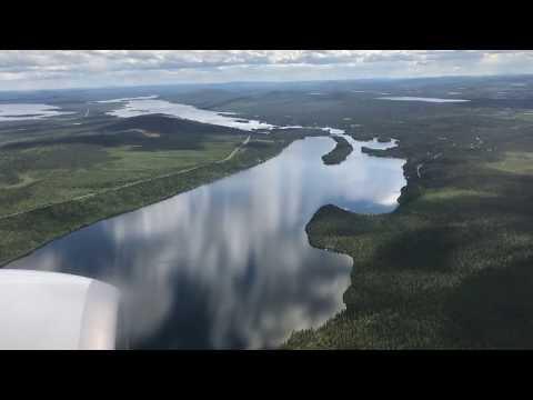Approach and landing Kiruna airport Sweden