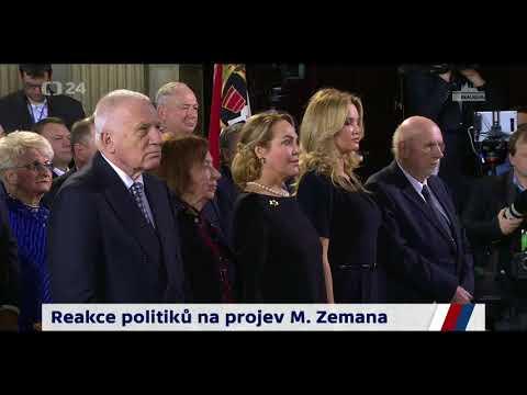 Okamžitá reakce na projev prezidenta Zemana