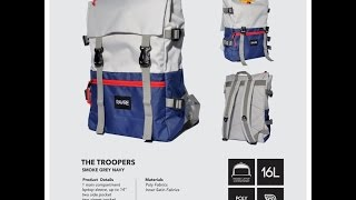 Unboxing Bag BackPack Ravre Troopers Grey blue Navy  made in Bandung Indonesia
