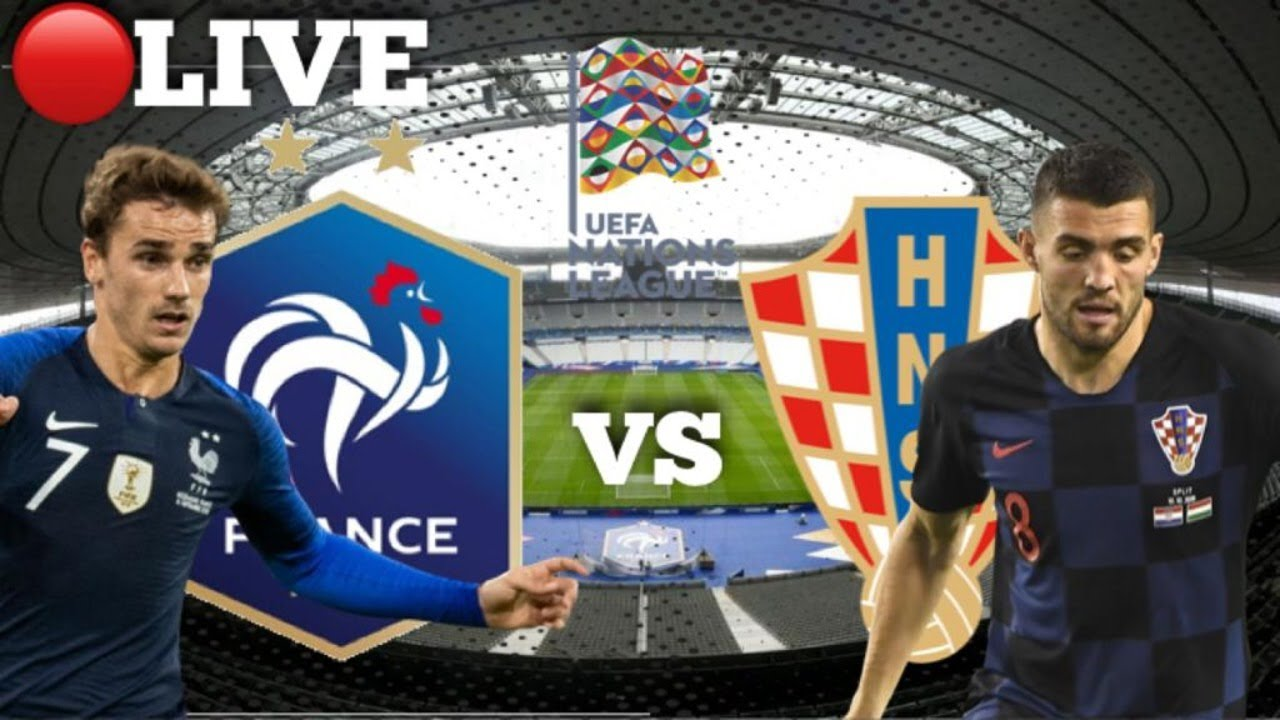 Live France Vs Croatia Uefa Nations League Football Watch Along Youtube