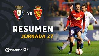 Resumen de CA Osasuna vs Real Zaragoza (1-0)