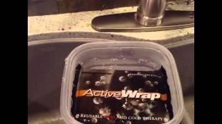 ActiveWrap Microwaveable Gel Heat Ice Pack for Back, Knee, Hands