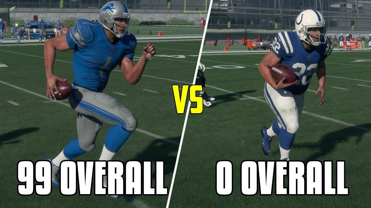 CAN A 99 OVERALL PLAYER RUN A 99 YARD TD BEFORE A 0 OVERALL PLAYER RUNS A 9 YARD TD? MADDEN NFL 18