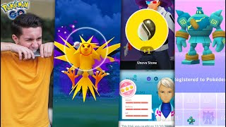 I ALMOST BROKE MY PHONE FROM THIS… SHADOW ZAPDOS + GIOVANNI in Pokémon GO!