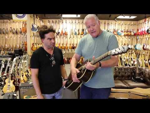Johnny Galecki from The Big Bang Theory at Norman's Rare Guitars