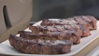 Steaks cooked on a Weber Genesis II