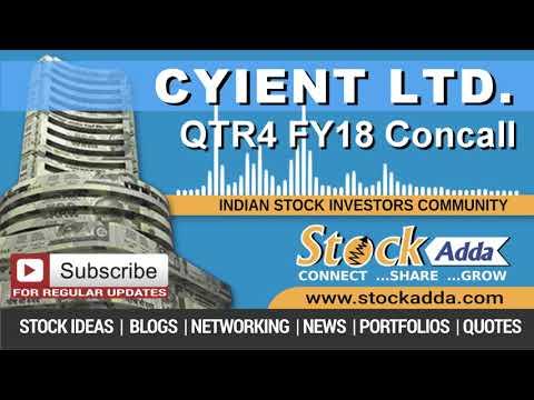 Cyient Ltd Investors Conference Call Q4FY18