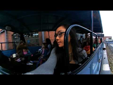 360 video: train ride at Museum of science and industry, Manchester UK